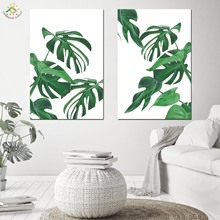 Green Plants Nordic Poster Modern Canvas Painting Wall Pictures Prints And Scroll Decoration Home