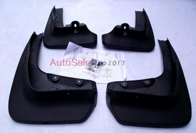 цена на Black plastic Full Set Molded Splash Guards Mud Flaps Cover 4pcs For BMW X6 E71 2009 2010 2012 2013 2014