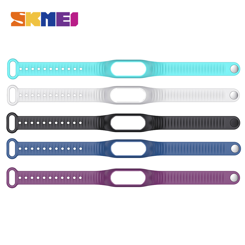 SKMEI B15P Smart Wristband PU Material 5 Color Fashion Strap For Men And Women Sport Watch