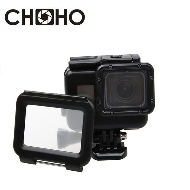 45M Underwater Waterproof Case Diving Housing + Touch Back Door Mount Black Color For GoPro Hero 5 6 7 Black Go Pro Accessories