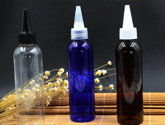 Dropper tip 4 colors 100ml,120ml,150ml PET, bath foam liquid shampoo emulsion bottle three 100ml