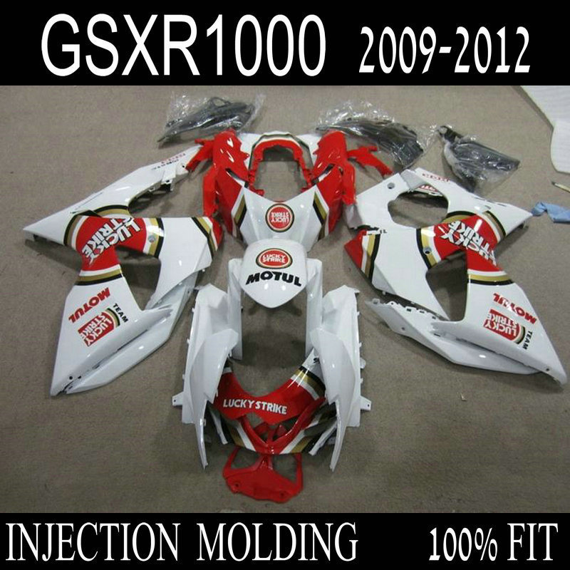 High quality Injection Mold ABS fairing kit for SUZUKI GSXR 1000 2009 2010 2011 2012 K9 GSXR1000 09-12 Lucky strike fairings set high quality electric cooker plastic injection mold