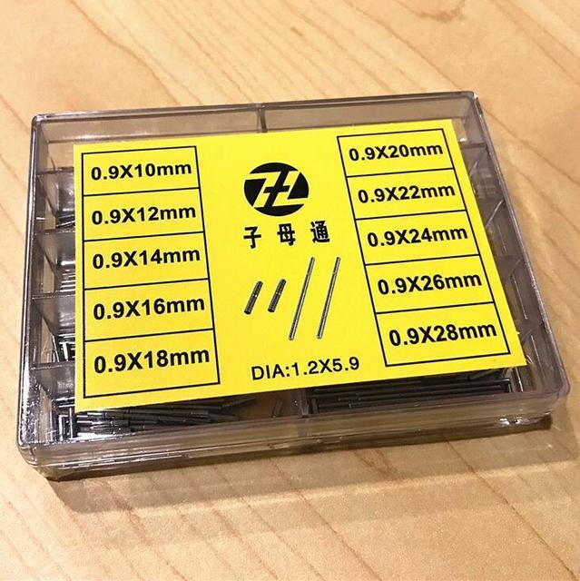 משלוח חינם 1 סט S/S סיכות עם צינורות עבור שעון צמיד רצועת להתאים פין בר