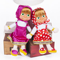 2016 Popular Masha and Bear Plush Dolls High Quality Russian Masha and Bear Stuffed Toys Kids Toys Briquedos Birthday Gifts