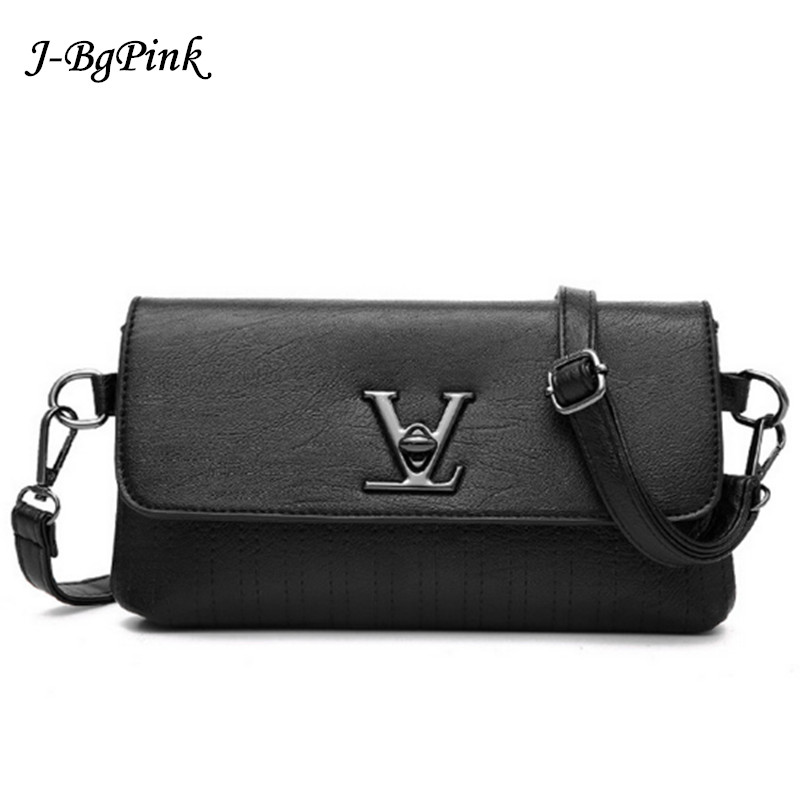 fake designer bags V Womens Luxury Leather Clutch Bag Ladies Handbags Brand Women Messen ...