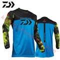 4 цвета 2019 новый стиль Daiwa Мужская одежда для рыбалки УФ-защита Влагоотводящая быстросохнущая дышащая рыболовная рубашка