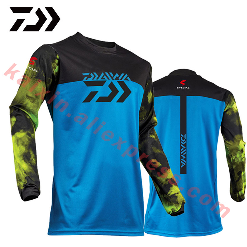 4 Colors 2019 New Style Daiwa Men Fishing Clothes UV Protection Moisture Wicking Quick-drying Breathable Fishing Shirts