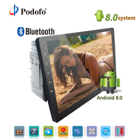 Podofo Android 2 din Car Radio 10 Touch Screen Mirror Link Universal Audio Stereo DVD Player GPS Navigation Support 3G Wifi