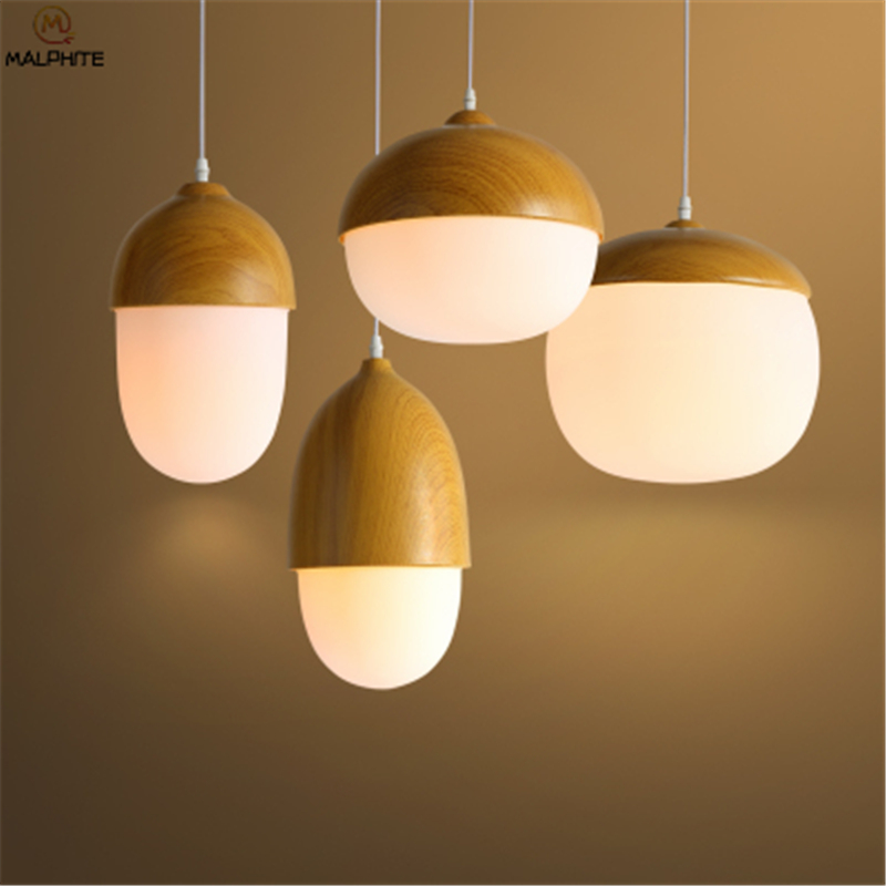 Nordic Iron LED pendant lights Household LED light fixtures Restaurant pendant lamps Cafe Decorative Pinecone lighting fixtures