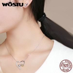 Image 2 - WOSTU collar con colgante de koala para mujer y niña, de Plata de Ley 925 de alta calidad, joyería encantadora, regalo para novia BKN256