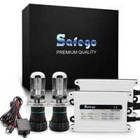 Safego AC 55W HID Bi Xenon Kit H4 Bi-Xenon Headlight Bulbs Hi Lo Beam+Relay Harness+Xenon Ballast 4300K 6000K 8000K AC 12V
