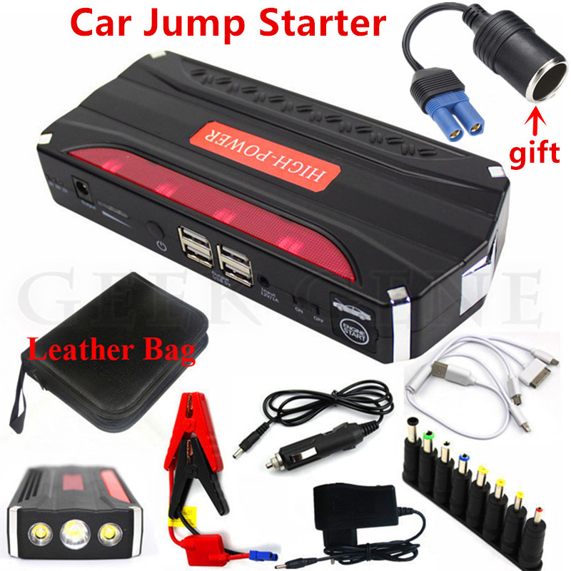 Emergency Car Jump Starter 600A Portable Starting Device Power Bank 12V Car Charger For Car Battery Petrol Diesel Booster Buster