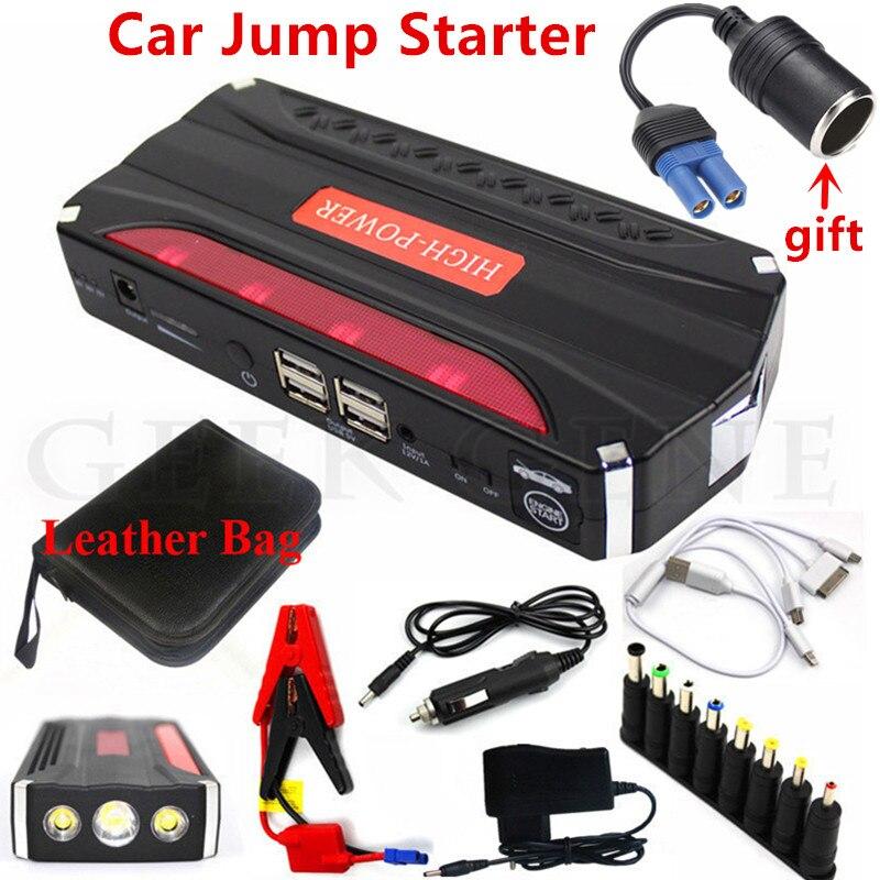 Notfall Auto Starthilfe 600A Tragbare Ausgangs Gerät Power Bank 12 v Auto Ladegerät Für Auto Batterie Benzin Diesel Booster buster