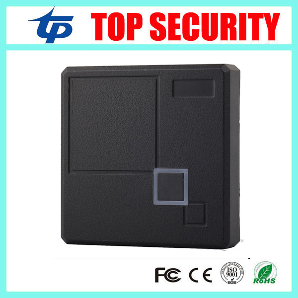 Good quality RFID mf IC card access control reader 13.56MHZ RFID card smart card control reader IP65 waterproof card reader outdoor mf 13 56mhz weigand 26 door access control rfid card reader with two led lights
