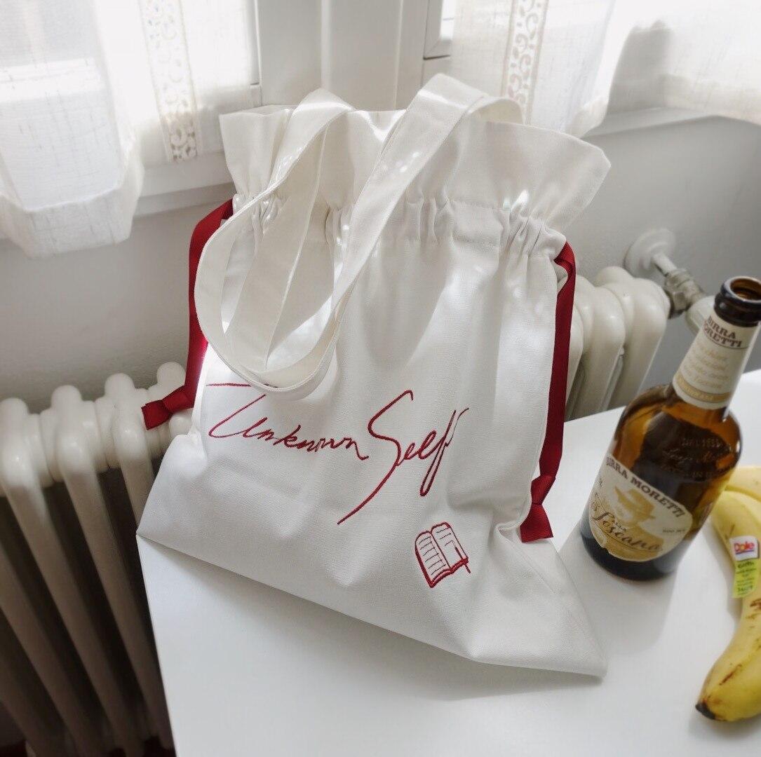 Little Paris Handmade Embroidered Women's Bag Unknown Self Drawstring Bag Shopping Bag Women's Fashion Shoulder Bag