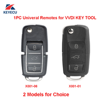 Xhorse x001 série cor preta universal remoto chave fob 3 botão para ferramenta chave vvdi