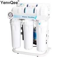 Бытовые 5 этапов очиститель воды фильтр Прямая Насколько 400 г большой поток обратного осмоса Системы с кран водяной насос комплект