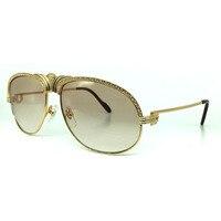 High Quality Luxury Brand designer sunglasses woman carter glasses women diamond sunglass rehinestone semi rimless golden frame