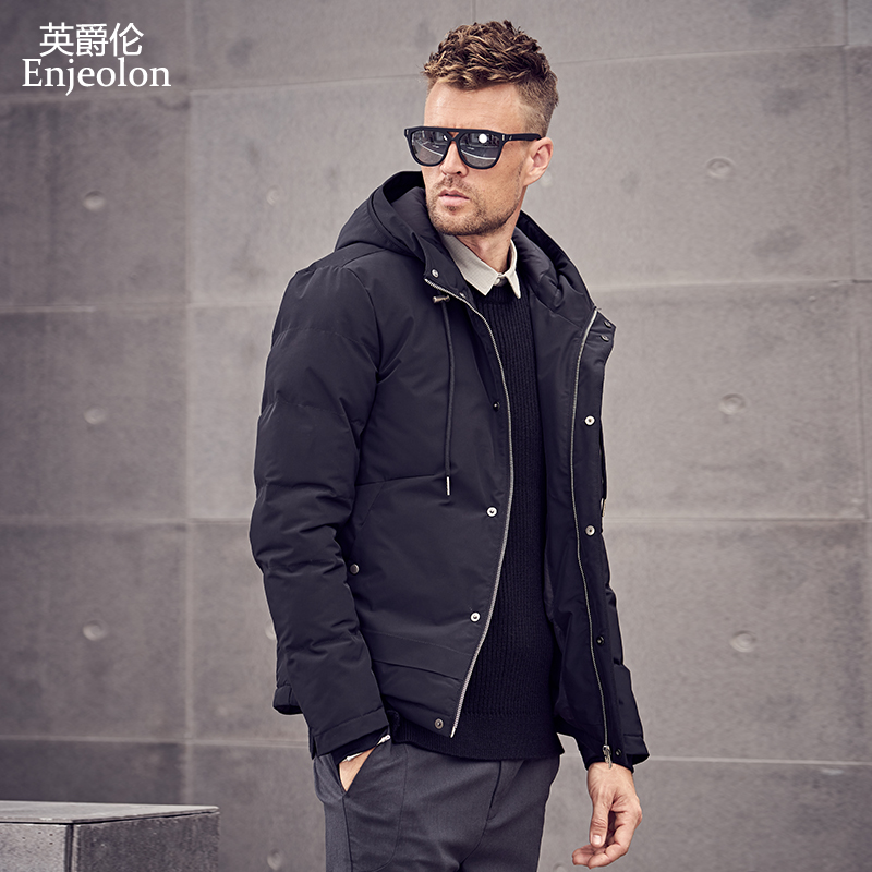 Enjeolon Brand 2019 Winter Cotton Padded Jacket Hoodies Men Thick Hoodies Parka Coat Male Quilted Winter Jacket Coat 3XL MF0726