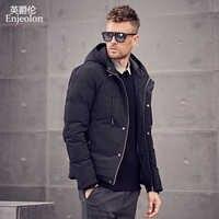 Enjeolon marque 2019 hiver coton rembourré veste sweat à capuche pour homme épais Hoodies Parka manteau mâle matelassé hiver veste manteau 3XL MF0726
