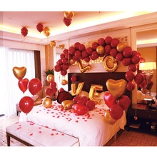 Combination packages Red Balloons for Wedding Valentines Day Party Decor Romantic Pomegranate Balloon Hanging Decorate