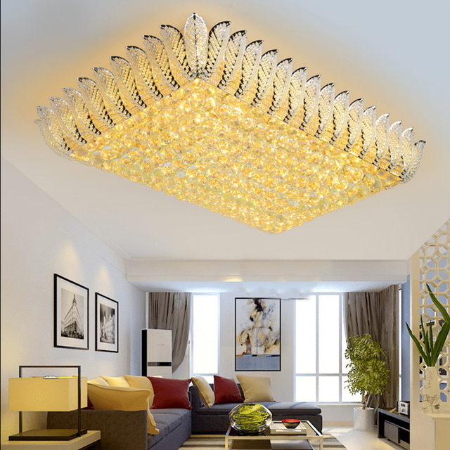 Modern Led Crystal Ceiling Lights Deckenleuchte Kristall Luminaria For  Living Room Bedroom Foyer Lamp Home Decoration