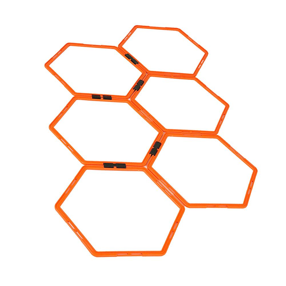 Hexagonal Agility Ring Training Ring Physical Training Ring Football Trainer Ladders Hurdles Speed Rings
