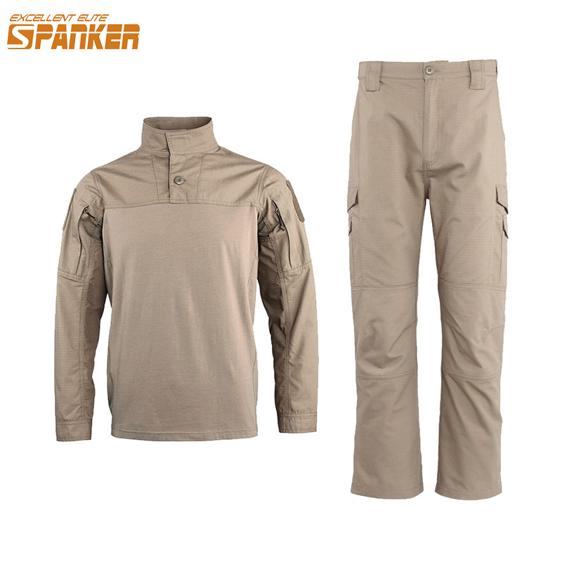 EXCELLENT ELITE SPANKER Military Jungle Men Cargo Suit Tactical Camo Long sleeve T-shirt Set Outdoor Hunting Night Attack Sets все цены