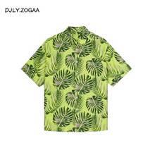 ZOGAA 2019 Floral Print Men T Shirt Beachwear New Fashion Male Causal Tee Shirt 5 Colors недорого