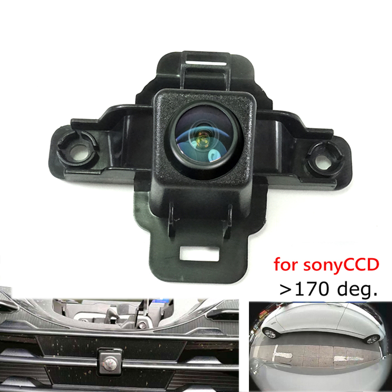 180deg CCD HD car front brand logo camera for Subaru Forester 2019 front grille camera