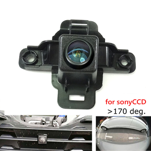 180deg CCD HD car front brand logo camera for Subaru Forester 2019 front grille camera Front view positive Camera wide angle(China)
