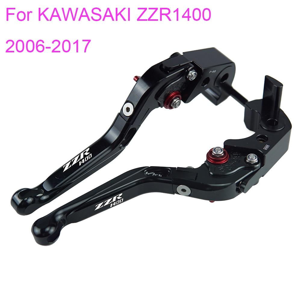 KODASKIN Folding Extendable Brake Clutch Levers for KAWASAKI ZZR1400 2006-2017 adjustable long folding clutch brake levers for kawasaki zx1400 zx14r zx 1400 11 12 13 14 15 zzr1400 zzr 1400 zx 14r 2014 2015