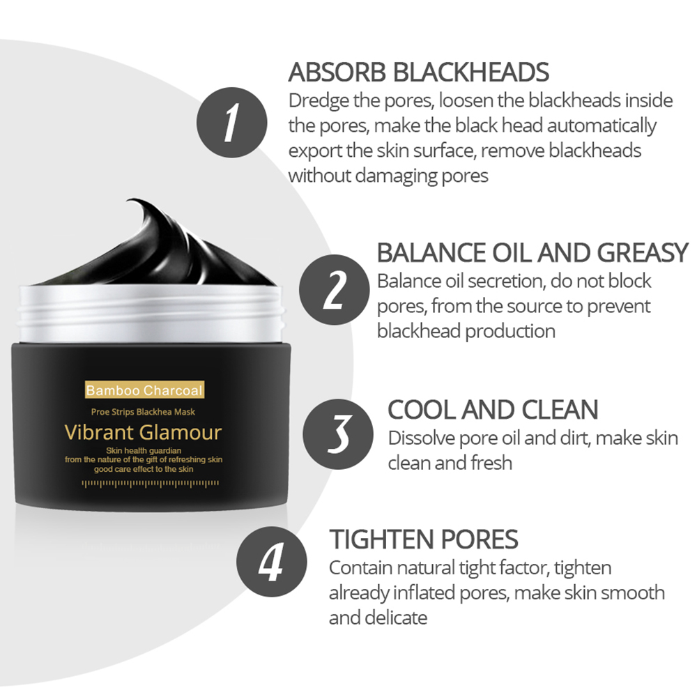 VIBRANT GLAMOUR Blackhead Remover Face Nose Mask Oil control Acne Treatment Tighting Brighten Whitening Moisturizing Skin Care in Treatments Masks from Beauty Health