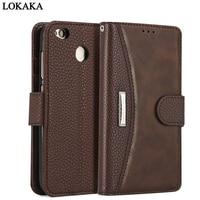 LOKAKA For Xiaomi Redmi 4X 5 Plus Case PU Leather TPU Flip Cases For Xiaomi Redmi