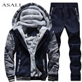 Men Tracksuit 2016 New Arrival Winter Casual Hooded Warm Tracksuit SportSet Male Winter Thick Slim Fit Hoodie Sets M-4XL  #D62