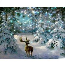 Full Square/Round Drill 5D DIY Diamond Painting Snow Deer Embroidery Cross Stitch  Home Decor Gift