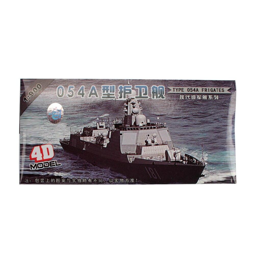 Купить с кэшбэком TAIHONGYU 8pcs Set 4D PLA Navy Warship Model Military Collections Assemble Model Kit