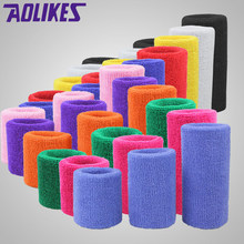 1pc 8cm esporte ginásio braceletes pulso 100% algodão suor pulseira tênis basquete badminton esportes protetor brace envoltórios