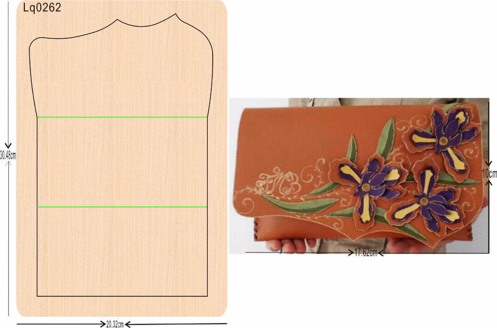 الإبداعية حقيبة 1 الخشب العفن متوافق مع معظم الرائدة آلات العفن سمك: 15.8mm-في قوالب قطع من المنزل والحديقة على  مجموعة 1