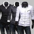 Polo limitado venda quente camisolas 2014 primavera oblíqua zíper fino Cardigan de manga comprida homens da moda Casual homens de vestuário básico