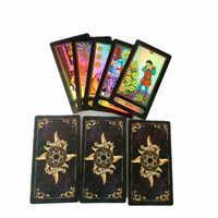 Os recém-chegados 1 conjunto 78 cartas tarô deck definir futuro dizendo inglês versão cartão placa jogos acessórios accessories accessories for para adultos