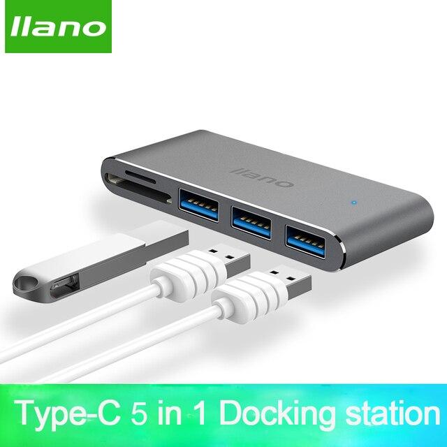 """מחשב נייד תחנת העגינה USB 5 in 1 C מתאם עבור ה macbook Pro 13/15 אינץ 4 K USB HDMI USB C 3.0 SD/TF קורא פ""""ד מתאם"""
