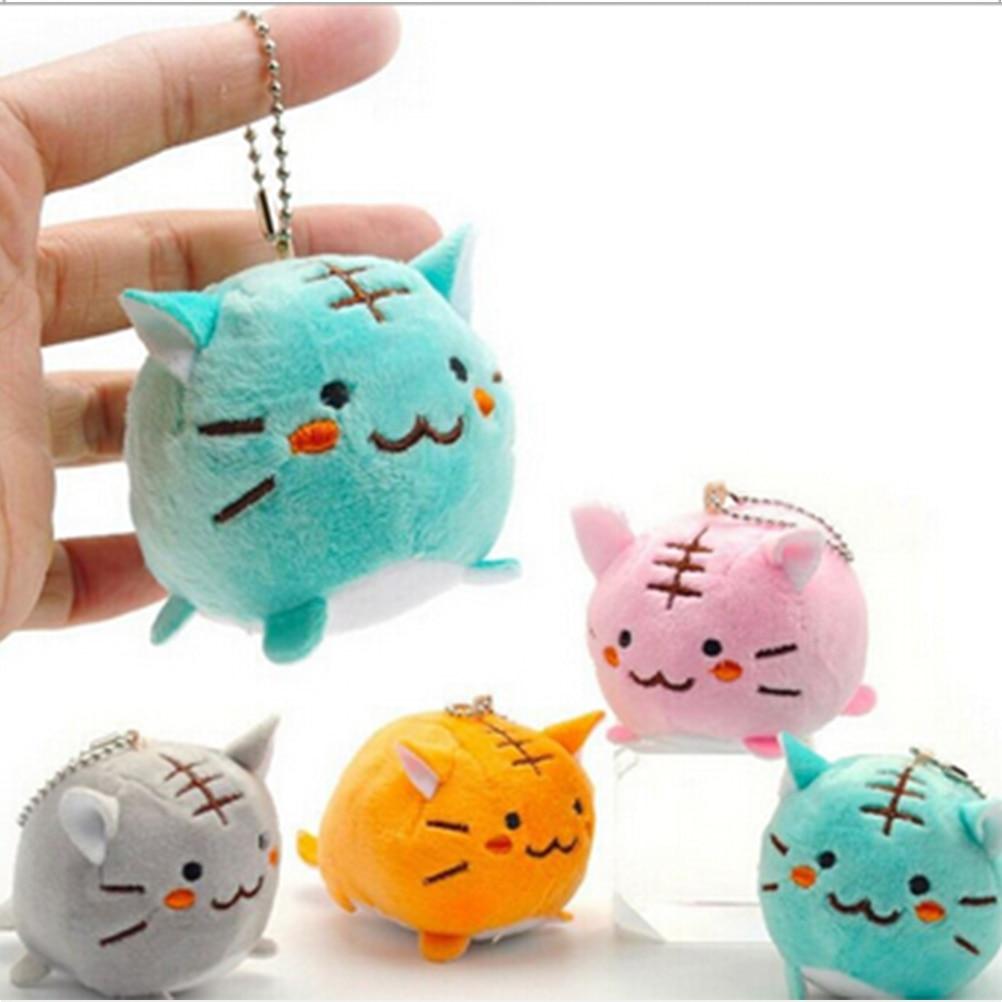1 Stks Leuke Pluche Squishy Tijger Kat Cartoon Hanger Charms Mobiele Telefoon Riemen Voor Mobiele Telefoon Decoratie
