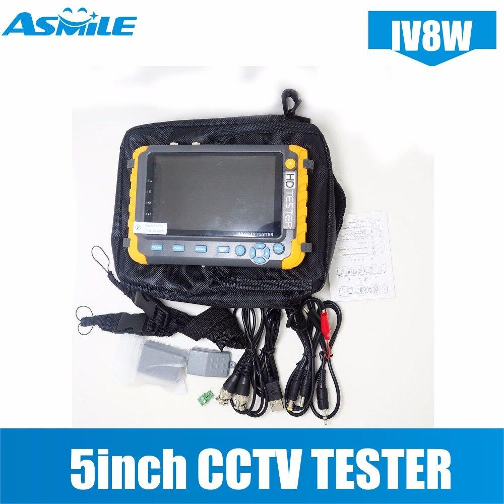 5 pouces TFT LCD 1080 p 4 DANS 1 TVI AHD CVI Analogique de Sécurité CCTV Moniteur Testeur pour IV8E
