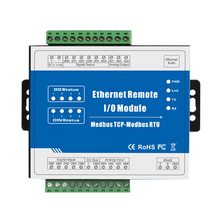 Security Protection - IoT Devices - 10Mhz High Speed Pulse Counter Modbus TCP Ethernet Remote IO Module (4DI+4DO+RJ45+RS485) M110T