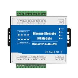 RJ45 a Modbus RTU convertidor de alta Velocidad pulso contra Modbus TCP mucho remoto Ethernet módulo IO (4DI + 4DO + RJ45 + RS485) m110T