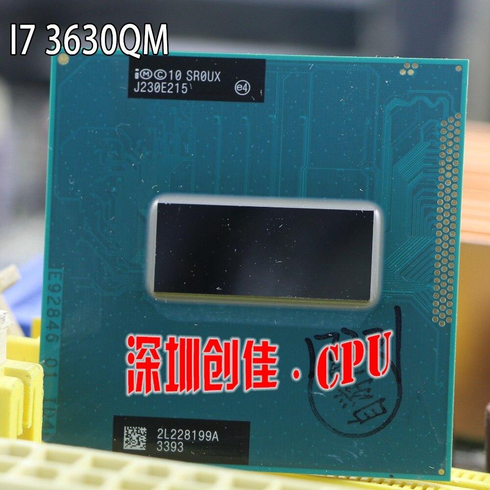 Processeur d'origine Intel i7 3630QM SR0UX PGA 2.4 ghz Quad Core 6 mb Cache TDP de 45 w 22nm Ordinateur Portable CPU prise G2 HM76 HM77 I7-3630qm