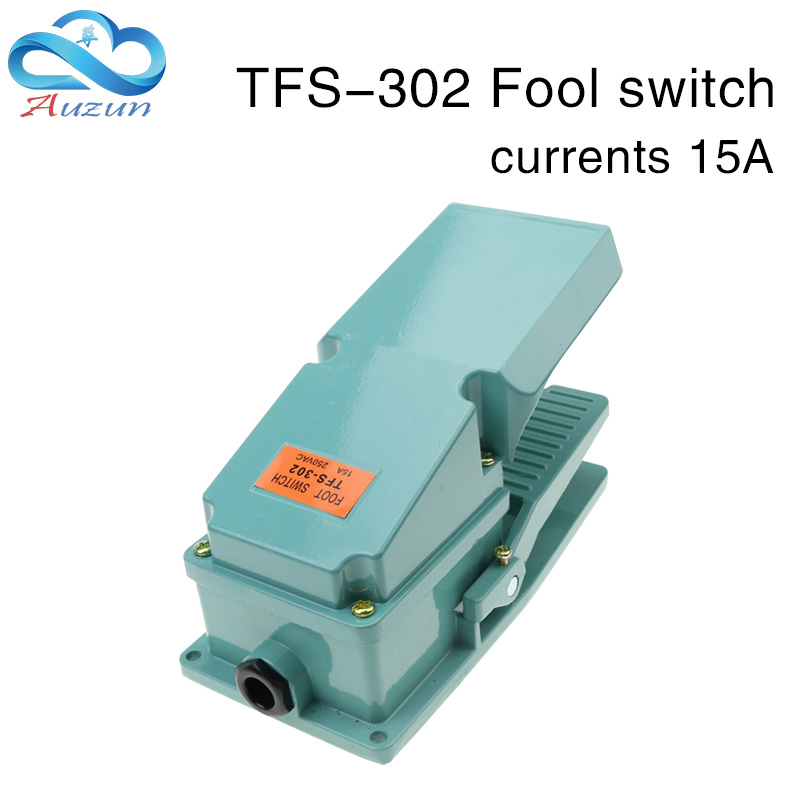 treadle switch controller self-reset tfs-302 power switch aluminum shell cover silver contact 15A250V.