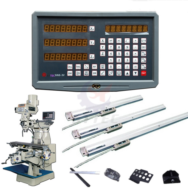 High accuracy 3 axis drill / lathe / milling machine digital readout DRO and 3 pieces linear scales / linear sensors dro system free shipping complete set milling lathe drill machine dro digital readout with 3 pcs linear scales