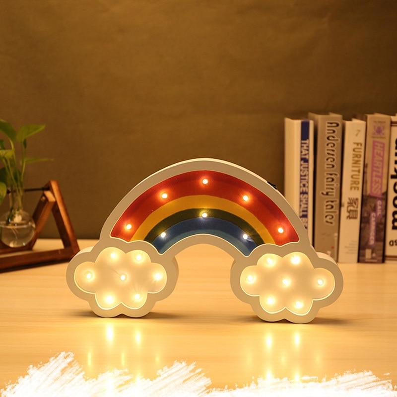 Lovely Cloud Rainbow  Led 3d Light Night Light Kids Gift Toy For Baby Children Bedroom Tolilet Lamp Decoration Indoor Lighting